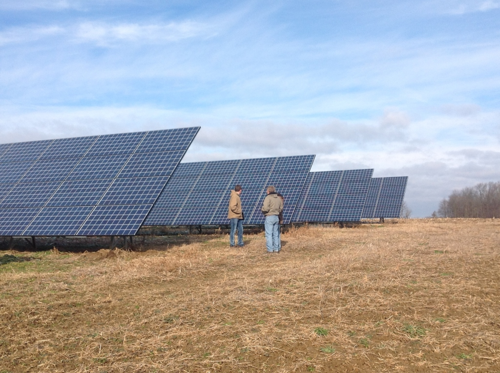 Solar PV Panels in farm field