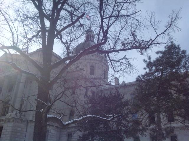 State Capitol winter scene
