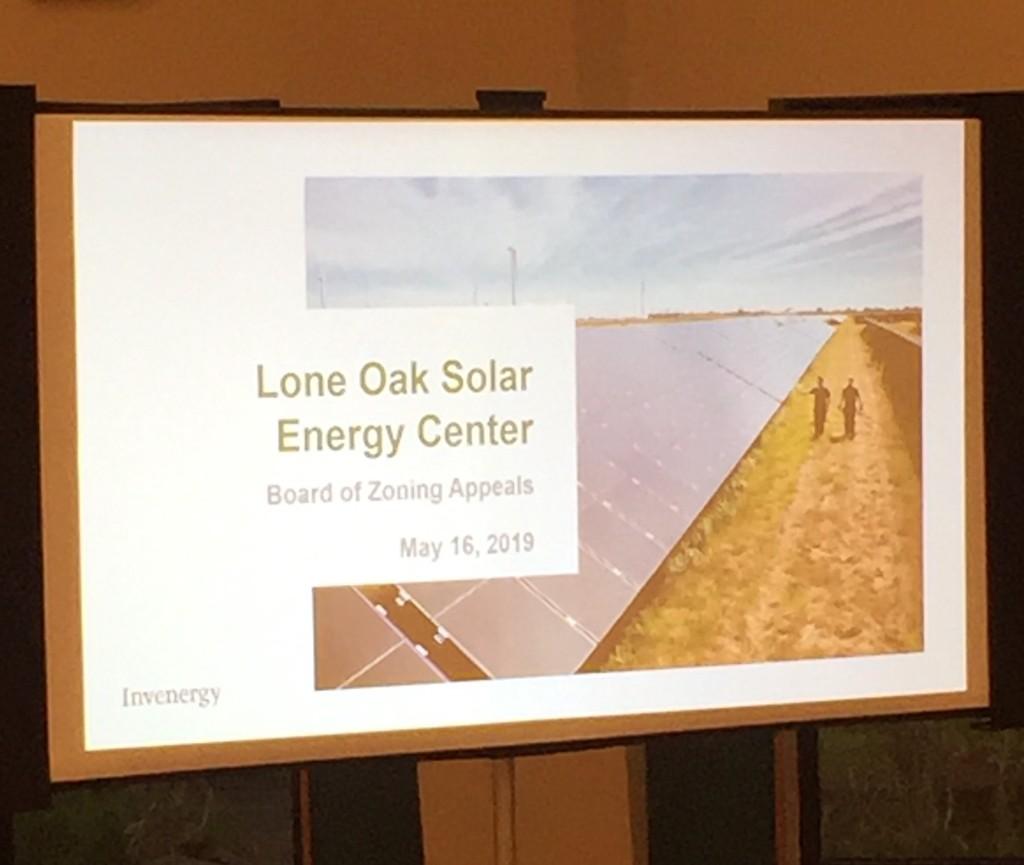 Lone Oak Solar BZA mtg 5-16-19