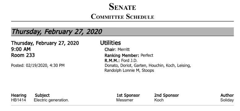 Senate Utilities 2-27-2020 agenda