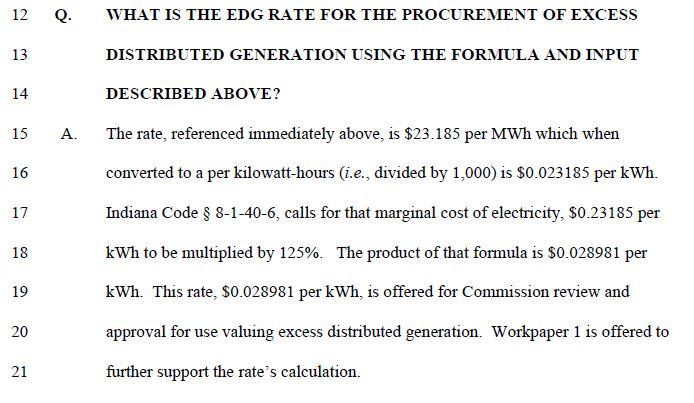 DEI EDG rate testimony